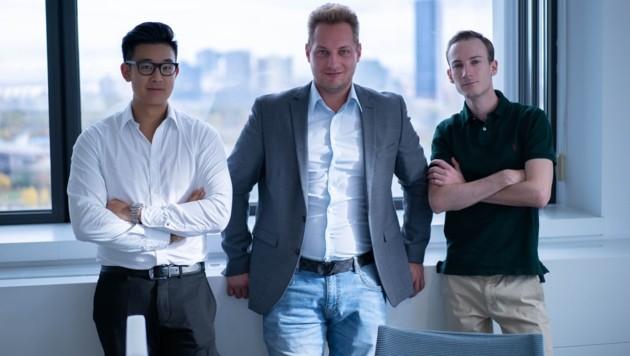 Larry Liu, Andreas König und Alexander Pecka