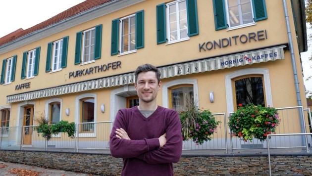 Klaus Purkarthofer: Traditionskonditorei in Fernitz wird geschlossen (Bild: Krone/Christian Jauschowetz)