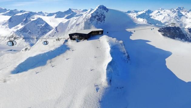 """Auf der """"begradigten"""" Gratspitze ist eine Seilbahn-Zwischenstation geplant. (Bild: Ötztaler Bergbahnen)"""
