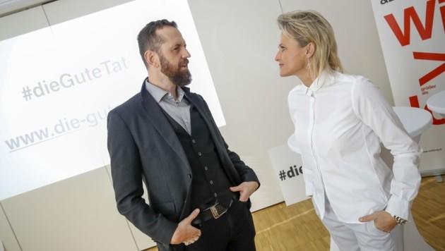 Thom Kinberger (GKK) und Ex-Skistar Alexandra Meissnitzer (Bild: Tschepp Markus)