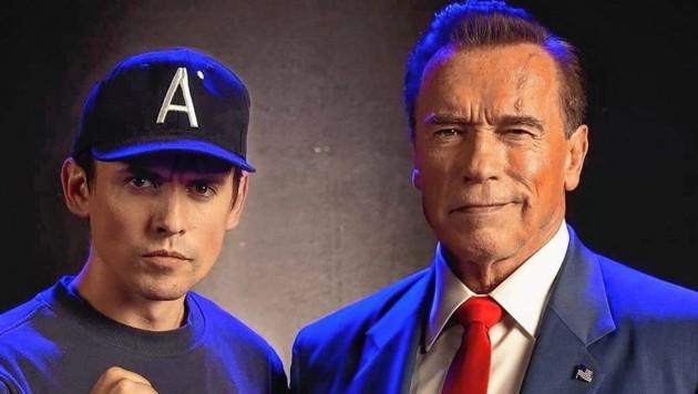 David Sandberg (li.) mit Schwarzenegger (Bild: www.instagram.com)