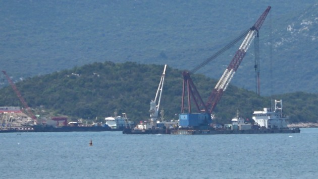 Hier entsteht die Peljesac-Brücke. (Bild: krone.at)