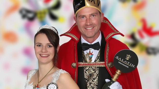"""Auch das Villacher Prinzenpaar 2020 muss auf ihr """"Lei-Lei"""" beim Westbahnhof verzichten. (Bild: villacher-fasching.at)"""