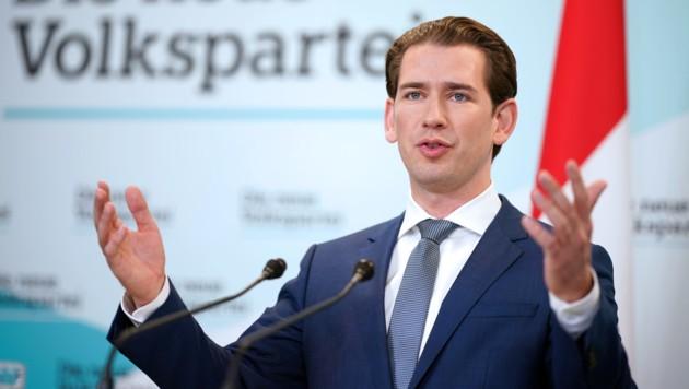 ÖVP-Bundesparteiobmann Sebastian Kurz (Bild: APA/GEORG HOCHMUTH)