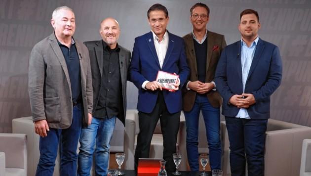 Von links: Wolfgang Falk, Niki Neunteufel, Gerhard Koller, Stefan Ratzenberger, Jakob Baran (Bild: zwefo)