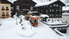 Rund 70 Zentimeter hat es am Mittwoch im Kärntner Lesachtal geschneit. (Bild: Josef Salcher)