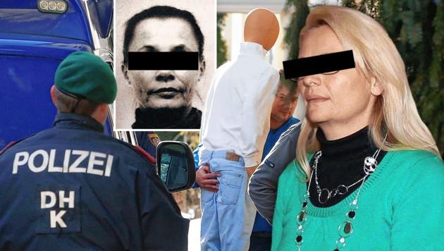 Margit T. (rechts) und Barbara H. müssen sich vor Gericht verantworten. (Bild: Rojsek Wiedergut, zVg, Daniel Raunig, krone.at-Grafik)