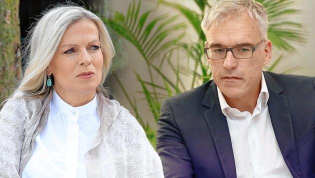 ORF-Moderatorin Claudia Reiterer und Ehemann Lothar Lockl haben sich vor dem Sommer getrennt. (Bild: Zwefo, krone.at-Grafik)