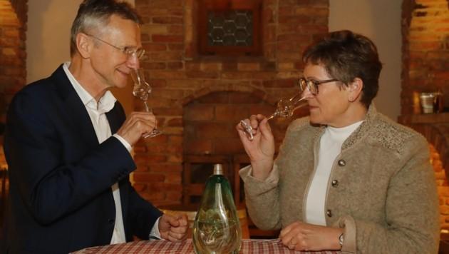 Martina Kuenz und Wendelin Juen haben ihre Sinne bis zur Perfektion geschult (Bild: Birbaumer Christof)