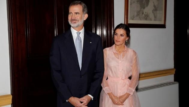 König Felipe VI. und seine Frau Letizia auf Kuba (Bild: JUAN CARLOS HIDALGO / EFE / picturedesk.com)