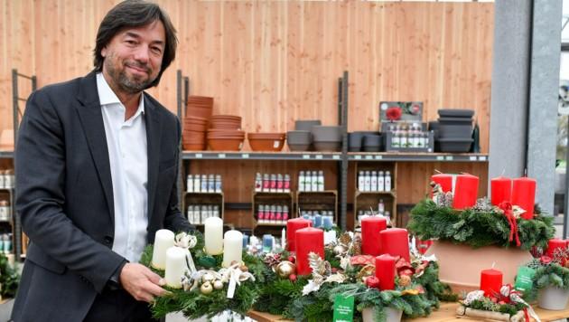 Bellaflora - hier Geschäftsführer Franz Koll - zieht's an neue Standorte. (Bild: Harald Dostal)