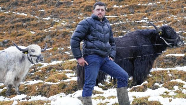 Landwirt Christian Bachler bewirtschaftet den höchstgelegenen Bauernhof der Steiermark. (Bild: Sepp Pail)