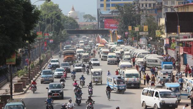 Der Verkehr in Mumbai ist nichts für schwache Nerven. (Bild: SPX/Benjamin Bessinger)