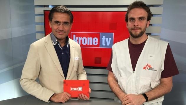 Gerhard Koller im Talk mit Tobias Haas (Bild: krone.tv)