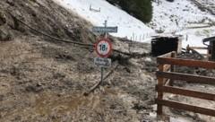 Zahlreiche Muren gingen durch den Starkregen im Pinzgau ab. (Bild: Land Salzburg/BH Zell am See)