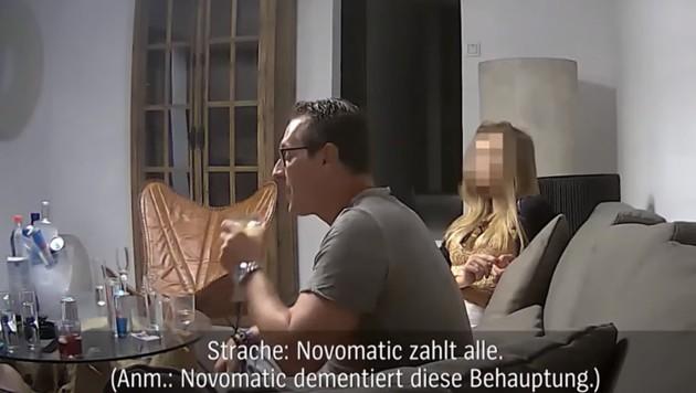 """Auf Ibiza behauptete Heinz-Christian Strache: """"Novomatic zahlt alle."""" (Bild: SZ, Der Spiegel)"""