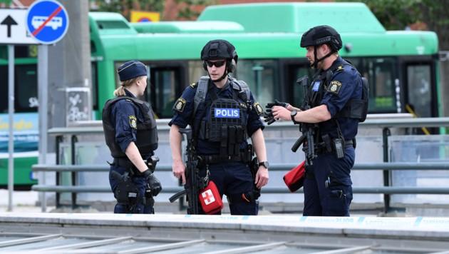 Spezialkräfte der schwedischen Polizei (Archivbild) (Bild: JONAS NILSSON/TT NEWS AGENCY/AFP)