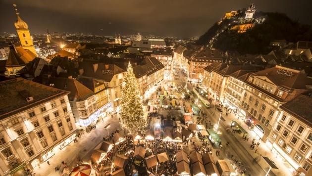 Ab Freitag erstrahlt die Grazer Innenstadt in festlichem Advent-Glanz (Bild: Foto Fischer)