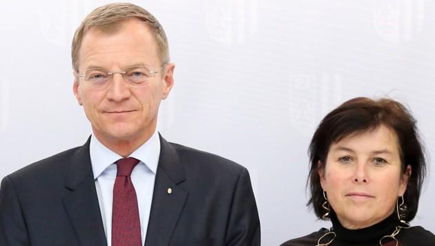 LH Thomas Stelzer und Birgit Gerstorfer (Bild: Land OÖ/Denise Stinglmayr)
