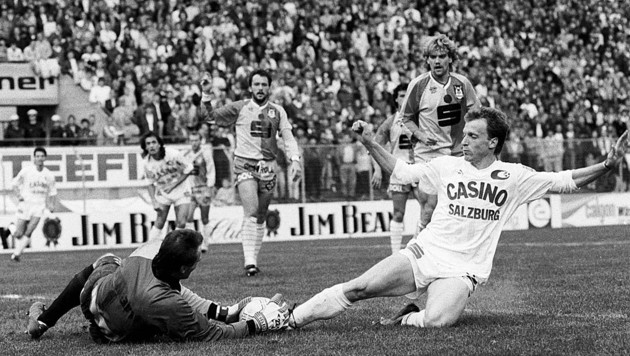 Rupert Marko (re.) stürmte 1989/90 für Austria Salzburg. (Bild: ©Krug Daniel sen)