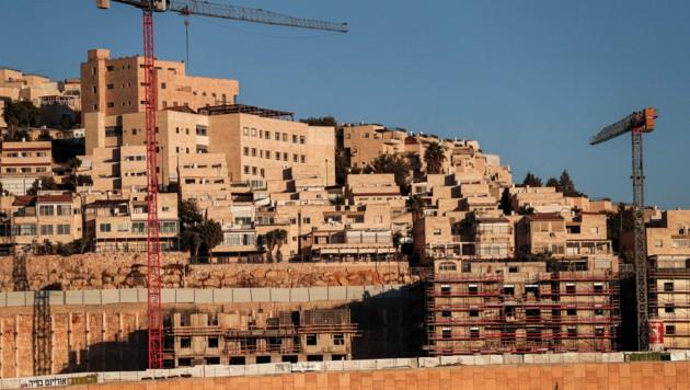 Der israelische Siedlungsbau in Jerusalem (Bild: AFP)