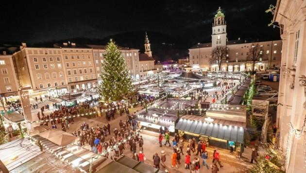 Ob der Salzburger Christkindlmarkt in diesem Jahr stattfinden kann steht noch in den Sternen (Bild: Markus Tschepp)