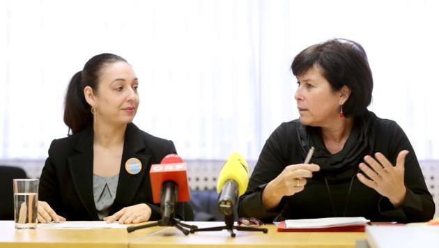 Frauenministerin Ines Stilling und Sozial-Landesrätin Birgit Gerstorfer (Bild: Land OÖ)