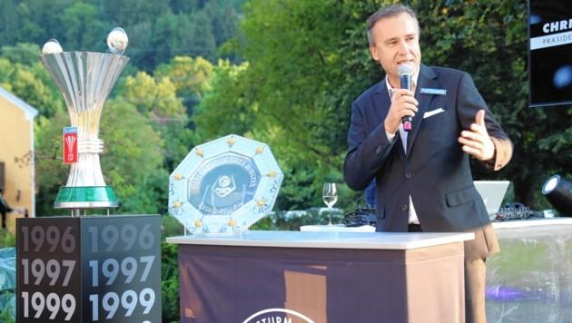 Sturm-Präsident Christian Jauk - folgt 2020 seine Abschiedsrede? (Bild: Sepp Pail)