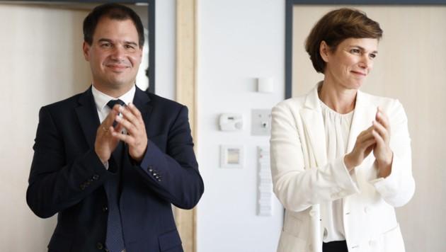 Der steirische Landeshauptmannstellvertreter Michael Schickhofer und SPÖ-Parteivorsitzende Pamela Rendi-Wagner (Bild: APA/ERWIN SCHERIAU)
