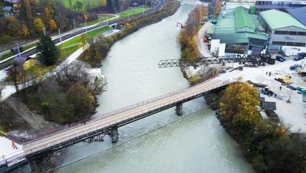 Die Brücke soll am 28. November fertiggestellt werden. (Bild: Bundesheer)