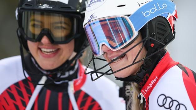 Katharina Truppe und Katharina Huber (Bild: GEPA )