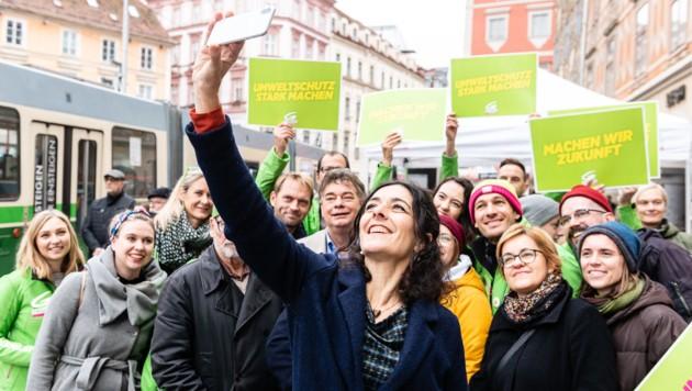 Wahlkampffinale der Grünen mit Sandra Krautwaschl und Werner Kogler