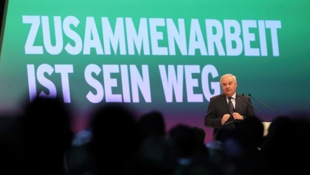 Landeshauptmann Hermann Schützenhöfer startete in Graz in den Wahlkampf.