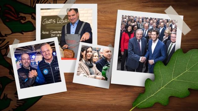 (Bild: Philipp Podesser, SPÖ Steiermark, FPÖ Steiermark/Wallner, STVP/Christian Jungwirth, stock.adobe.com, krone.at-Grafik)
