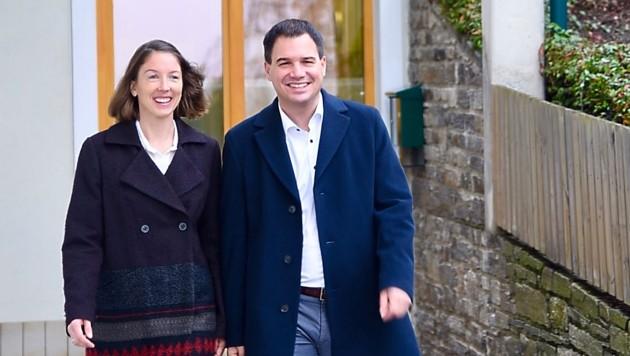 Michael Schickhofer und Frau Ulrike bei der Stimmabgabe