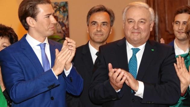 Bürgermeister Siegfried Nagl (Mitte): Sebastian Kurz und Hermann Schützenhöfer applaudieren.