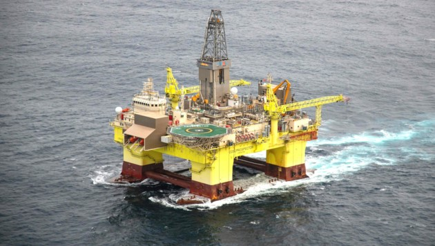 Diese Ölplattform wird von der OMV in Neuseeland betrieben. (Bild: Greenpeace/Geoff Reid)