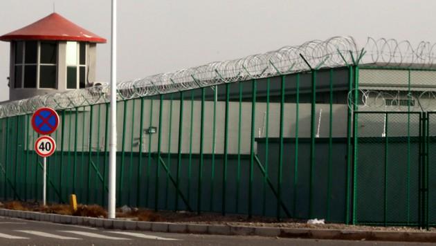 Ein Internierungslager in der chinesischen Provinz Xinjiang (Bild: AP)