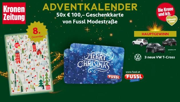 (Bild: Fussl Modestraße, Kronen Zeitung, VW)