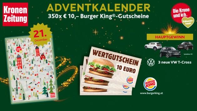 (Bild: Burger King, Kronen Zeitung, VW)