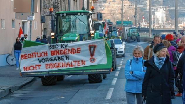 Rund 100 Demonstranten marschierten heute durch die ganze Stadt. (Bild: Markus Tschepp)