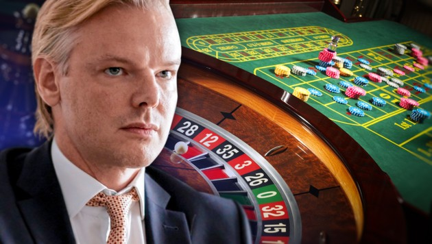 Der ehemalige FPÖ-Bezirksrat Peter Sidlo steht im Mittelpunkt der Causa Casinos. (Bild: Mirjam Reither/picturedesk.com, stock.adobe.com, krone.at-Grafik)