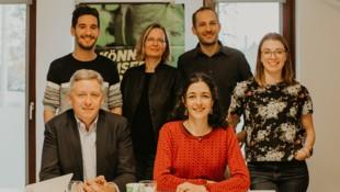 Der neue Grüne Landtagsklub: Lambert Schönleitner, Georg Schwarzl, Veronika Nitsche, Sandra Krautwaschl, Alexander Pinter und Lara Köck (Bild: Puhek)