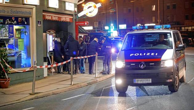 Raubüberfall auf die Trafik in der Maxglaner Hauptstraße 1 (Bild: Markus Tschepp)