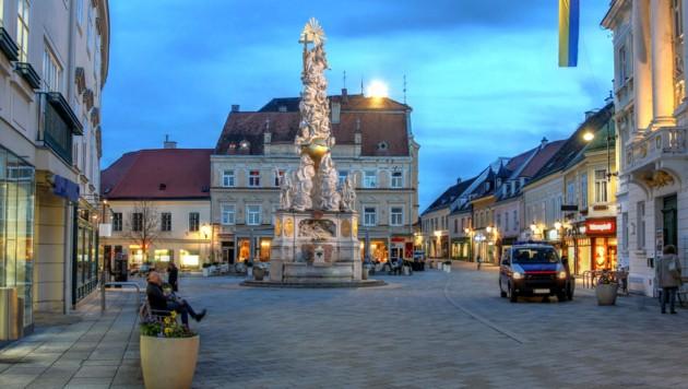 Der Hauptplatz der Stadt Baden, die nun UNESCO-Welterbe ist (Bild: ©Bogdan Lazar - stock.adobe.com)