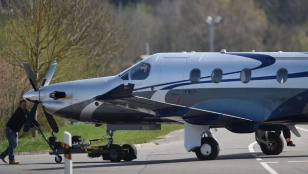 Eine PC-12 des Schweizer Flugzeugbauers Pilatus Aircraft stürzte mit zwölf Menschen an Bord in South Dakota ab. (Bild: AFP)