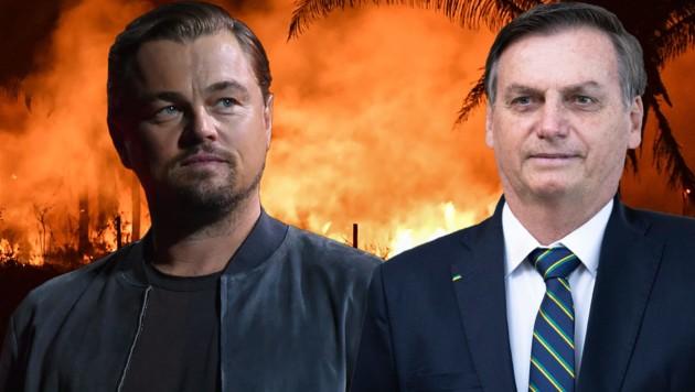 Leonardo DiCaprio, Jair Bolsonaro (Bild: AP, AFP, krone.at-Grafik)