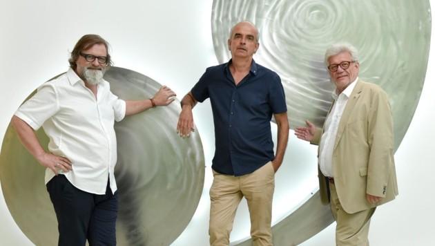 Peter Androsch (l. mit Martin Sturm und Walter Putschögl) will Geschichte lebendig werden lassen (Bild: Wenzel Markus)
