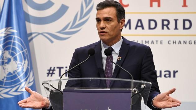 Der spanische Premierminister Pedro Sanchez (Bild: AFP)