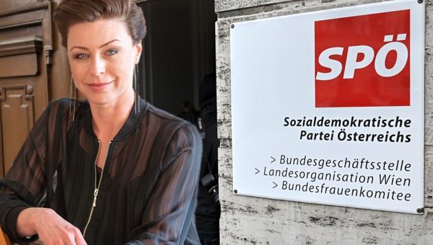 Elisabeth Auer (42) heuert bei der Wiener SPÖ an. (Bild: Sebastian Kreuzberger, APA/HERBERT NEUBAUER, krone.at-Grafik)